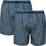 Esprit Herren-Boxershorts 2er-Pack marine/grün