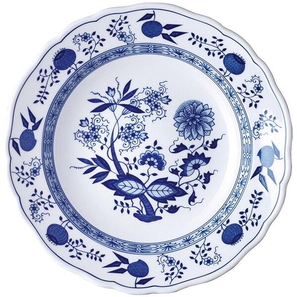 Hutschenreuther Suppenteller Blau Zwiebelmuster königsblau