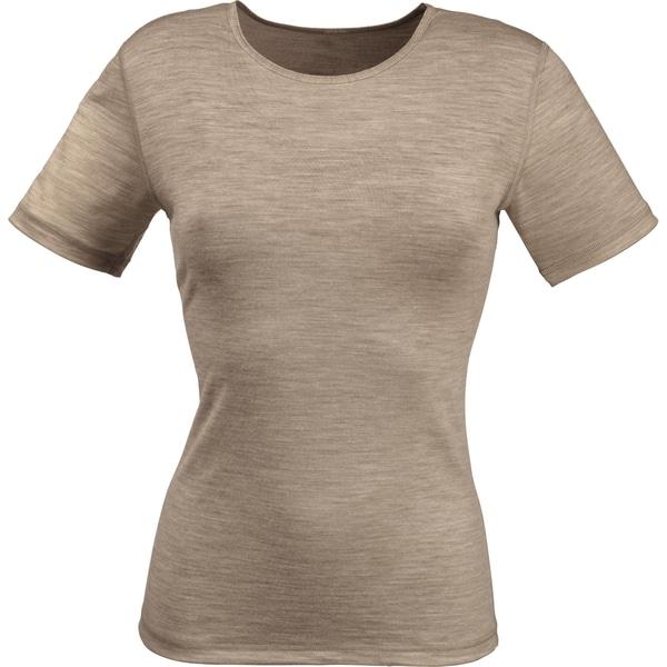 PomPadour Damen-Unterhemd 1/2-Arm taupe meliert
