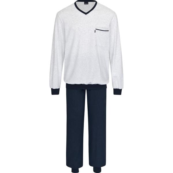 Ammann Herren-Schlafanzug marine/creme meliert
