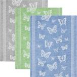 Kracht Geschirrtuch 3er-Pack grau/blau/grün