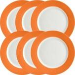 Gepolana Dessertteller 6er-Pack orange