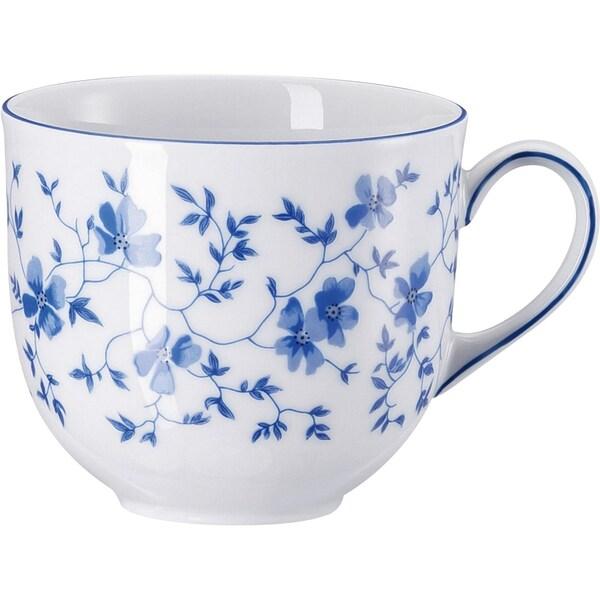 Arzberg Kaffeetasse Blaublüten weiß/blau
