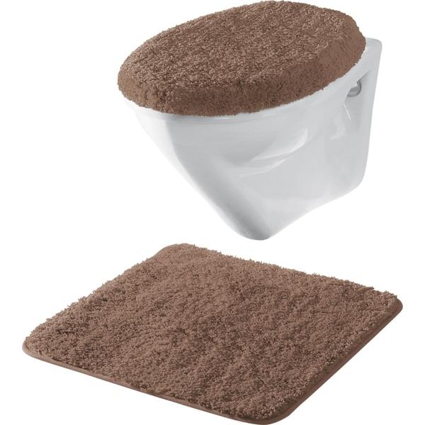 Erwin Müller 2-tlg. Hänge-WC-Set braun