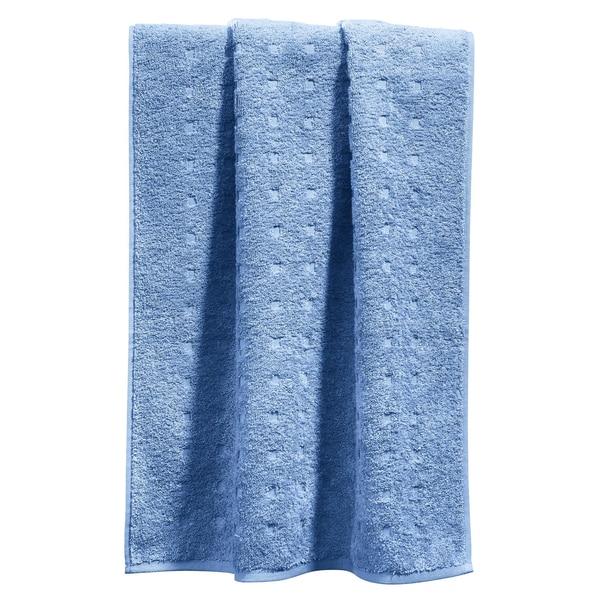Möve Handtuch Quadretti hellblau