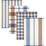 Kracht Geschirrtuch 4er-Pack weiß-braun-blau