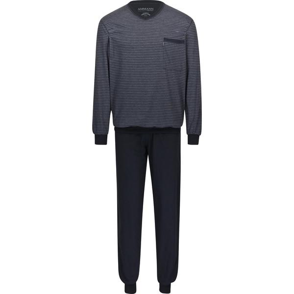 Ammann Herren-Schlafanzug grau