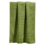 Möve Handtuch Quadretti grün