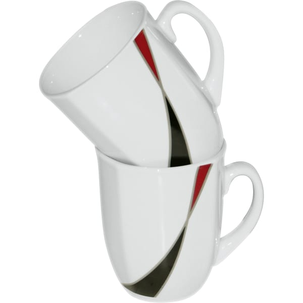 Gepolana Kaffeebecher Modena 2er-Pack dunkelrot