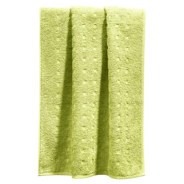 Möve Handtuch Quadretti hellgrün
