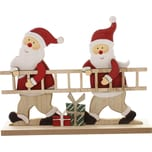 "Figur ""Santas mit Leiter"" rot"