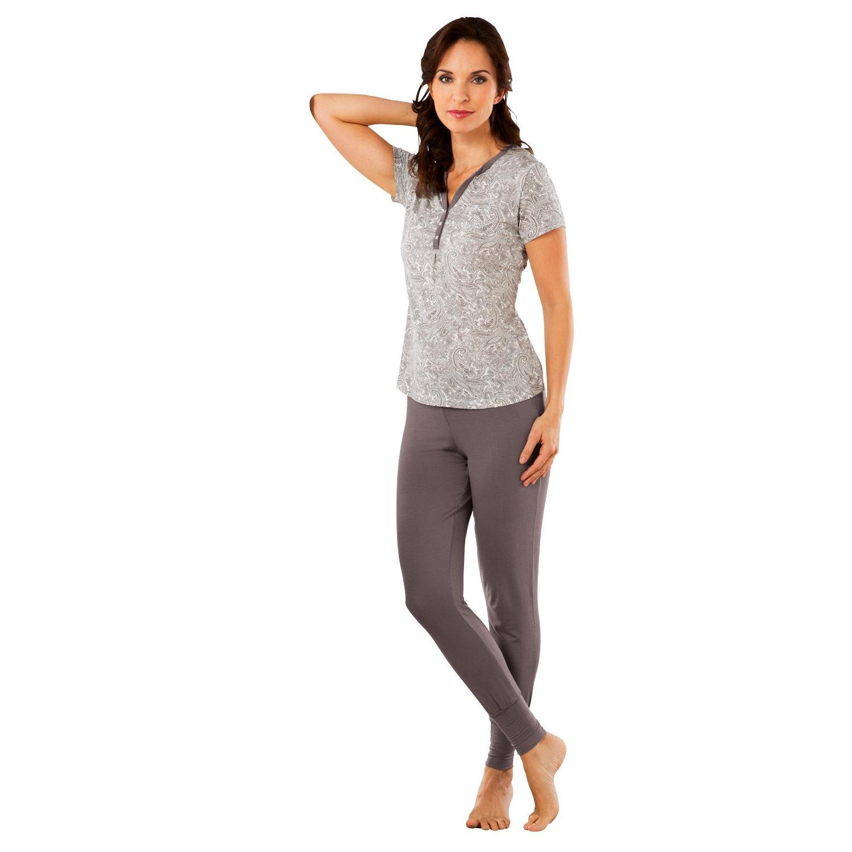 Esprit Damen-Schlafanzug braun