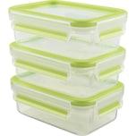 Emsa Frischhaltedosen-Set 3-teilig Clip & Close grün