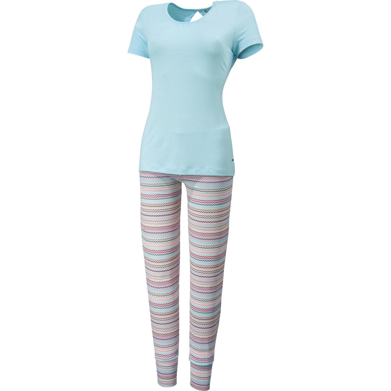 Esprit Damen-Schlafanzug hellblau