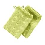 Möve Waschhandschuh 2er-Pack hellgrün