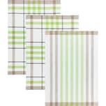 Kracht Geschirrtuch 3er-Pack weiß-braun-grün