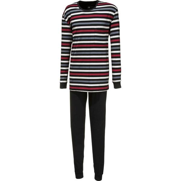 Cito Herren-Schlafanzug rot/schwarz/grau