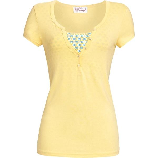 Bloomy Damen-T-Shirt gelb