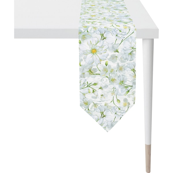 Apelt Tischband Springtime weiß-gelb
