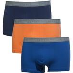 Esprit Herren-Pants 3er-Pack blau/orange/marine