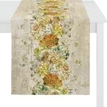 Apelt Tischläufer Herbstzeit mit Druckmotiv natur-gelb