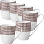 Gepolana Kaffeebecher 6er-Pack braun