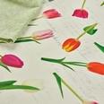 Sander Mitteldecke Tulip Romance mit Druckmotiv creme