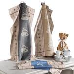 Geschirrtuch 3er-Pack braun-grau/braun-beige/braun-blau