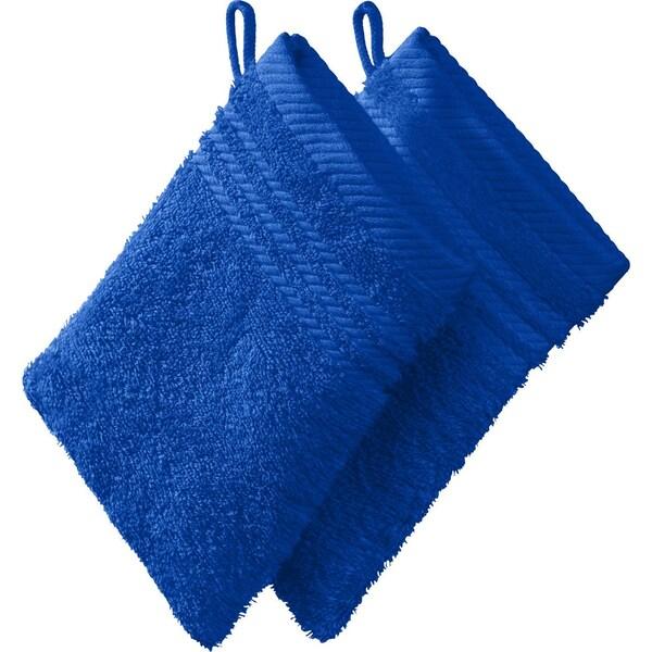 Redbest Waschhandschuh New York 2er-Pack royalblau