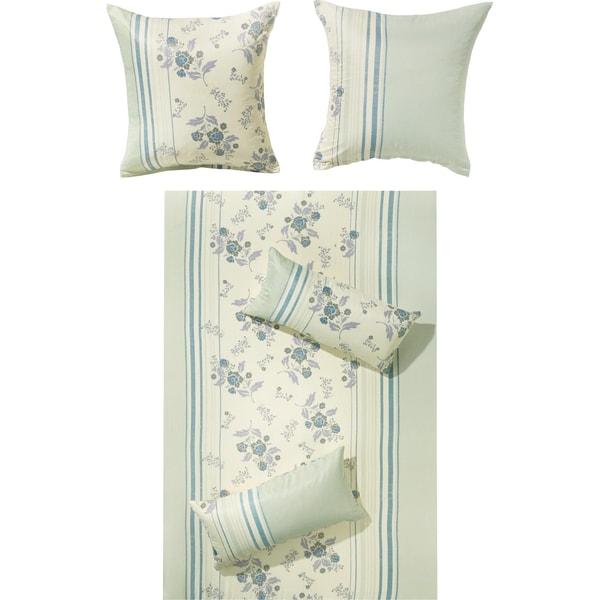 Redbest Bettwäsche blau/wollweiß