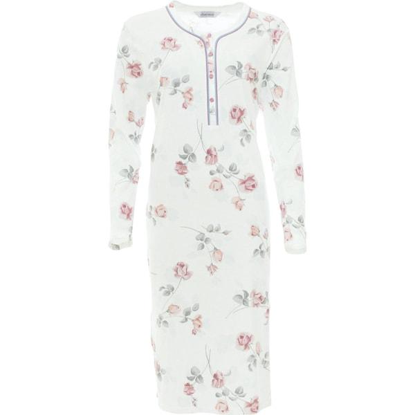 Charmor Damen-Nachthemd creme/rose/grau