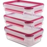 """Emsa Frischhaltedose """"Clip & Close"""" 3er-Pack pink"""