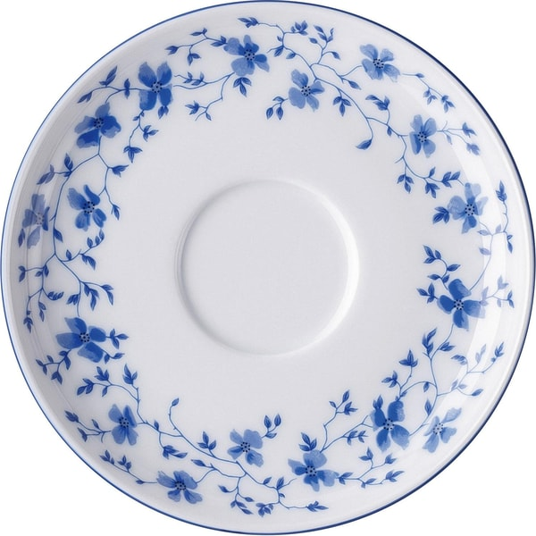 Arzberg Kaffeeuntertasse Blaublüten weiß/blau