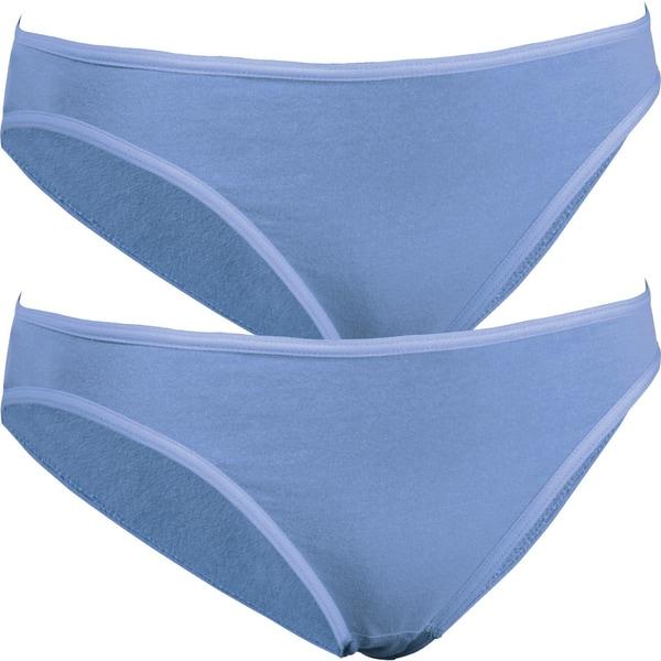 PomPadour Bio Damen-Bikinislip 2er-Pack hellblau