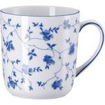 Arzberg Kaffeebecher Blaublüten weiß/blau