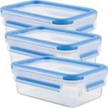 Emsa Frischhaltedose Clip & Close blau 3er-Pack