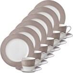 Gepolana Kaffeeservice braun 18-teilig