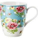 Hutschenreuther Kaffeebecher Springtime Flowers blau