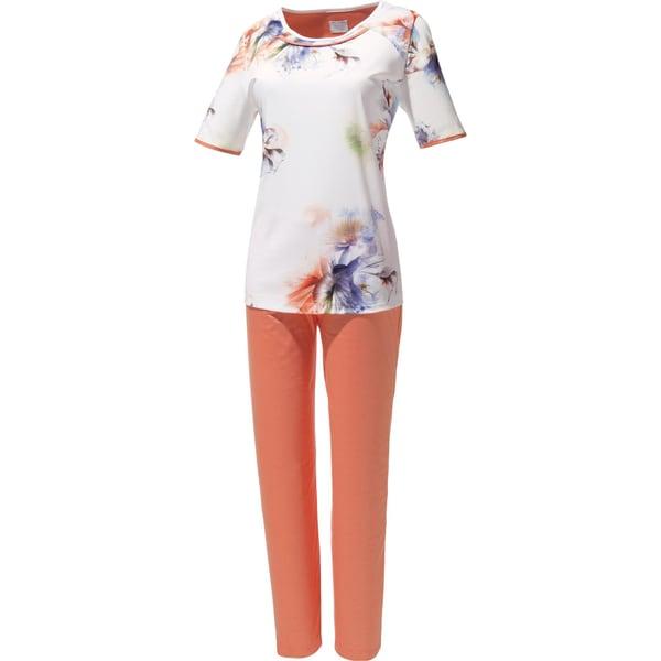 Bleyle Damen-Schlafanzug mit Druckmotiv orange