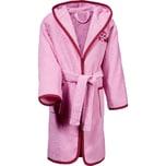 Erwin Müller Kinder-Bademantel mit Kapuze mit hochwertigem Stickmotiv rosa