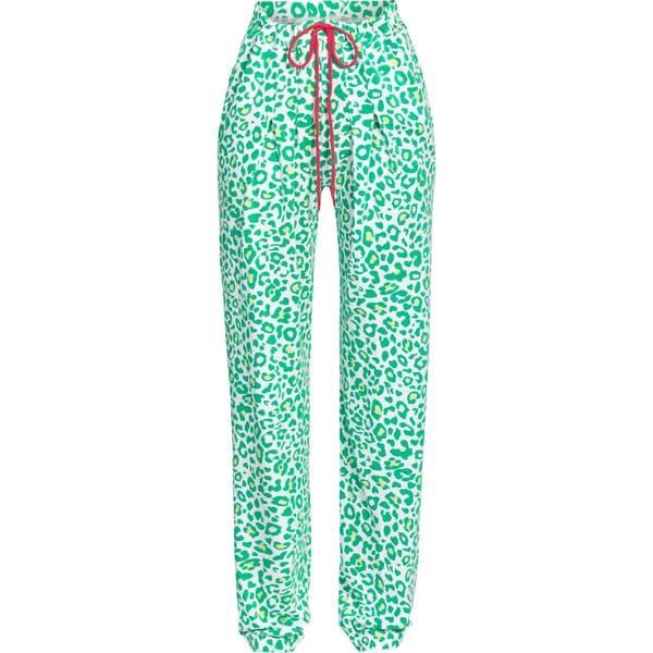 Bloomy Damen-Hose lang grün