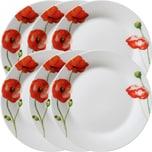 Gepolana Dessertteller 6er-Pack rot