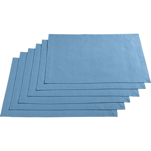 Redbest Tischset 6er-Pack hellblau