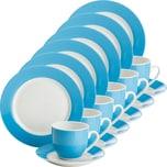 Gepolana Kaffeeservice 18-tlg. blau