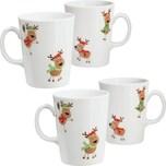 Gepolana Kaffeebecher 4er-Pack braun