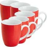 Gepolana Kaffeebecher rot 6-teilig