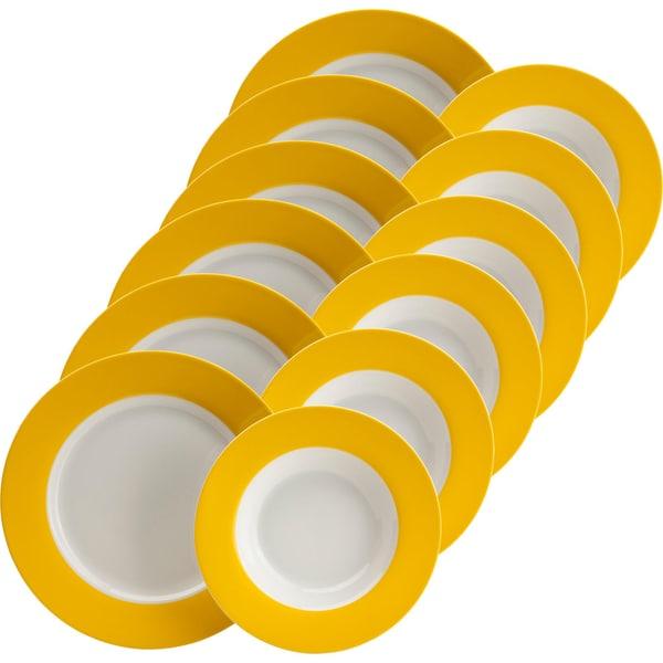 Gepolana Tafelservice gelb 12-teilig
