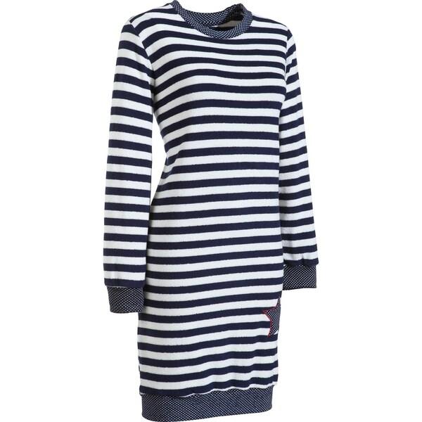 Normann Damen-Nachthemd dunkelblau/weiß