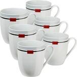 Gepolana Kaffeebecher Livorno 6er-Pack grau