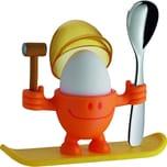 WMF McEgg Eierbecher mit Löffel, Kunststoff, H 11 cm, orange